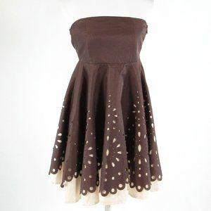 Brown ANTHROPOLOGIE empire waist dress M